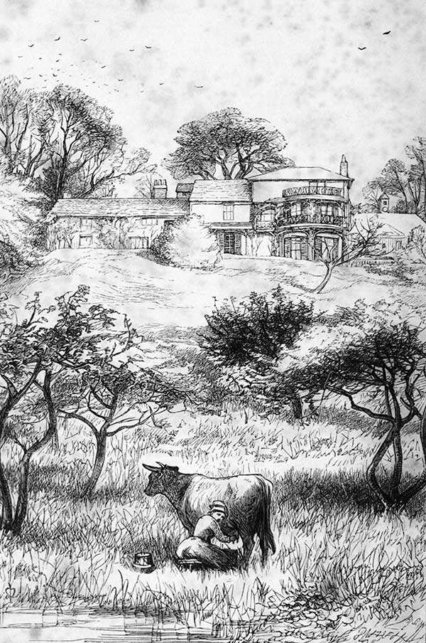 Orley Farm. Frontispiece to the first edition [John Everett Millais]
